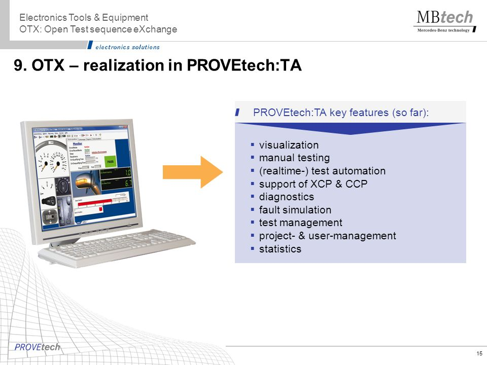 9. OTX – realization in PROVEtech:TA