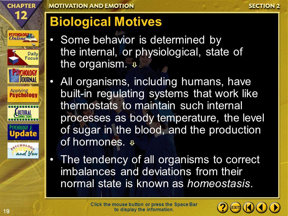 biological motives psychology