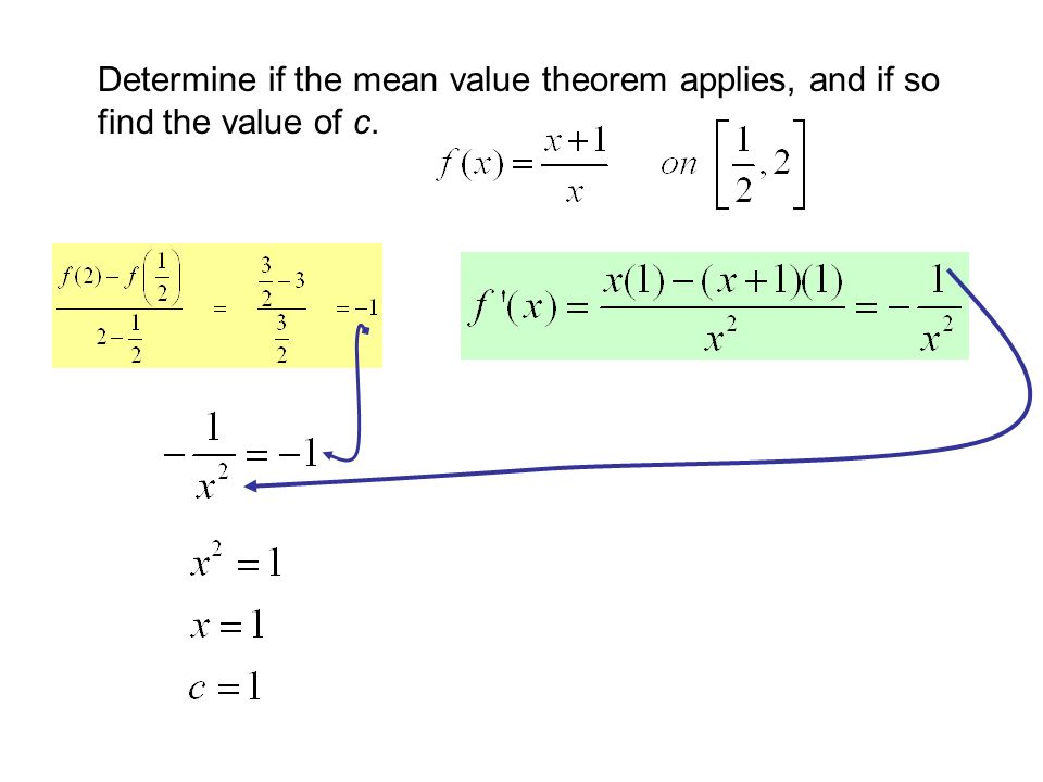 Chapter 3 Section 32 Rolle's Theorem And The Mean Value. 19 Determine If The Mean Value Theorem Applies And So Find Of C. Worksheet. Worksheet On Mean Value Theorem At Clickcart.co
