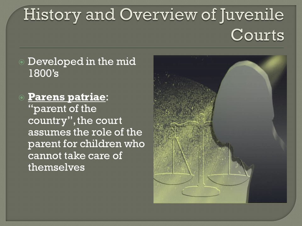 History and Overview of Juvenile Courts