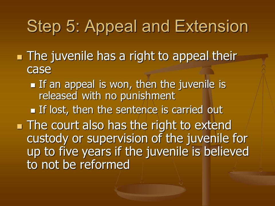 is juvenile sentence right