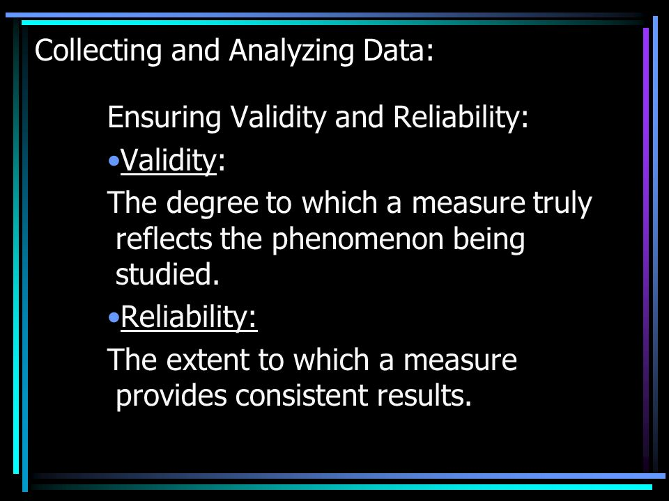 Collecting and Analyzing Data: