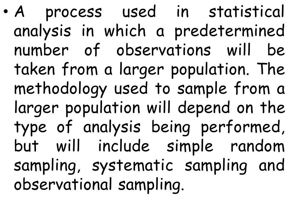 simple methodology sample