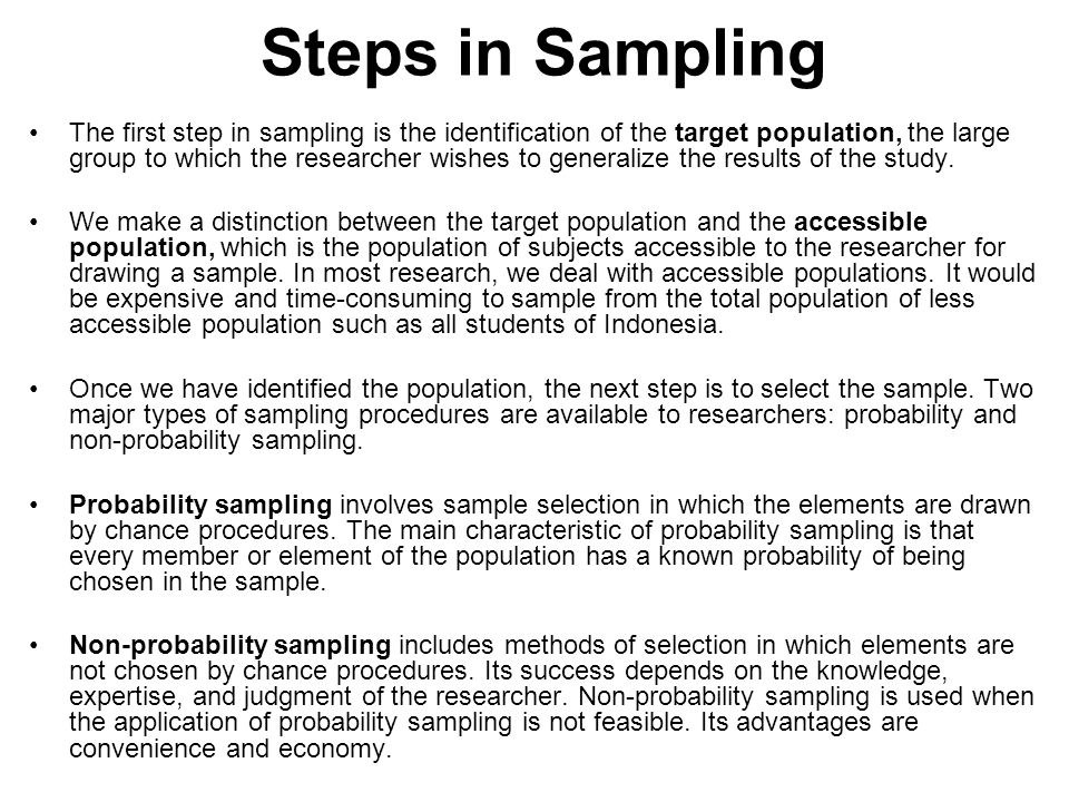 types of sampling in research