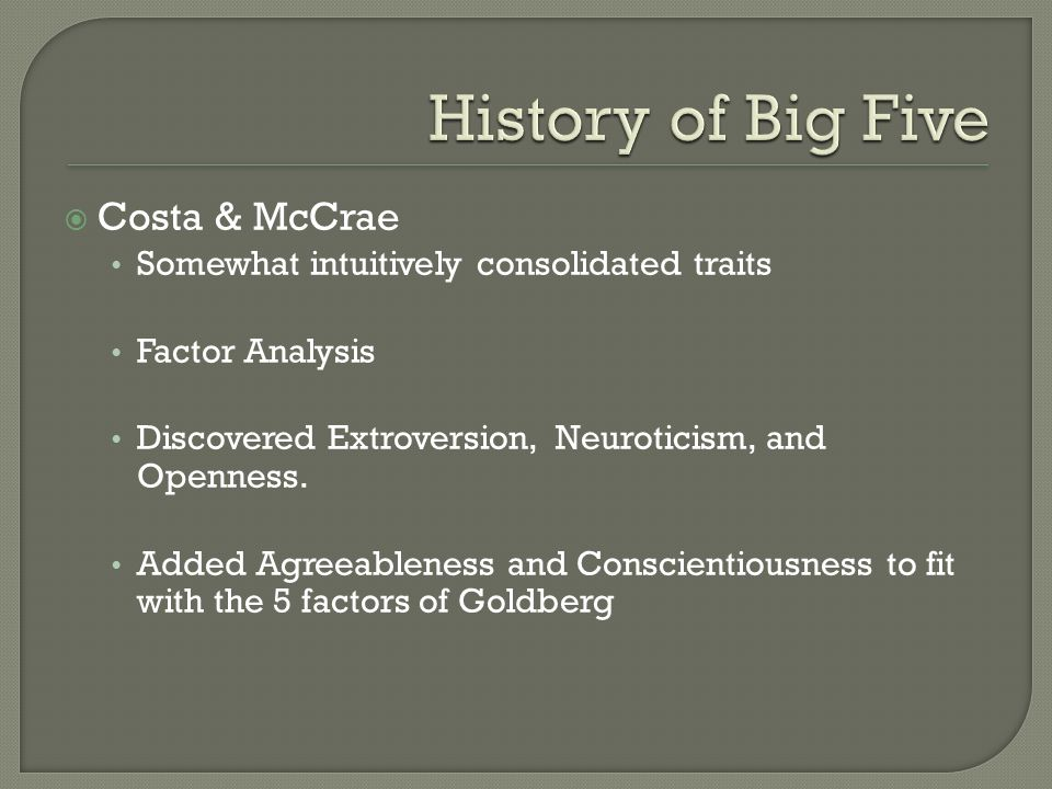 THE BIG FIVE David Normansell  - ppt video online download