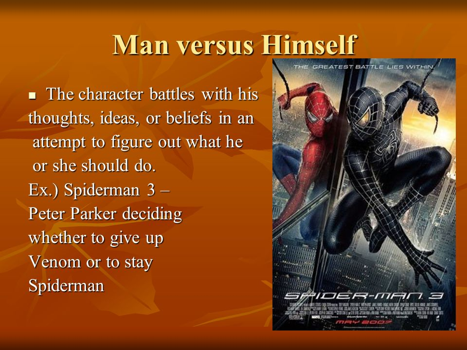 Man versus Himself The character battles with his