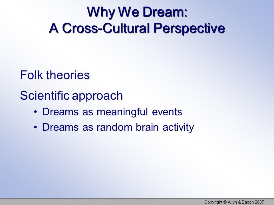 Why We Dream: A Cross-Cultural Perspective