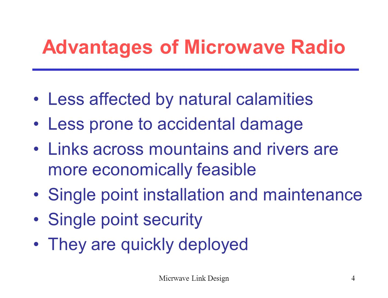 Advantages Of Microwave Radio