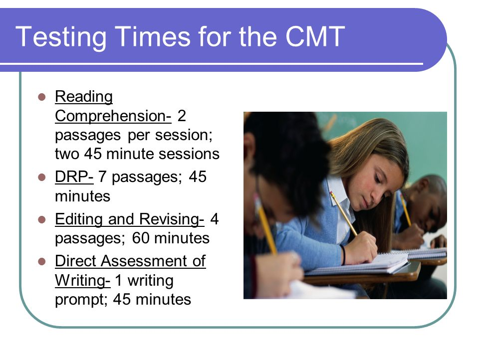 Testing Times for the CMT