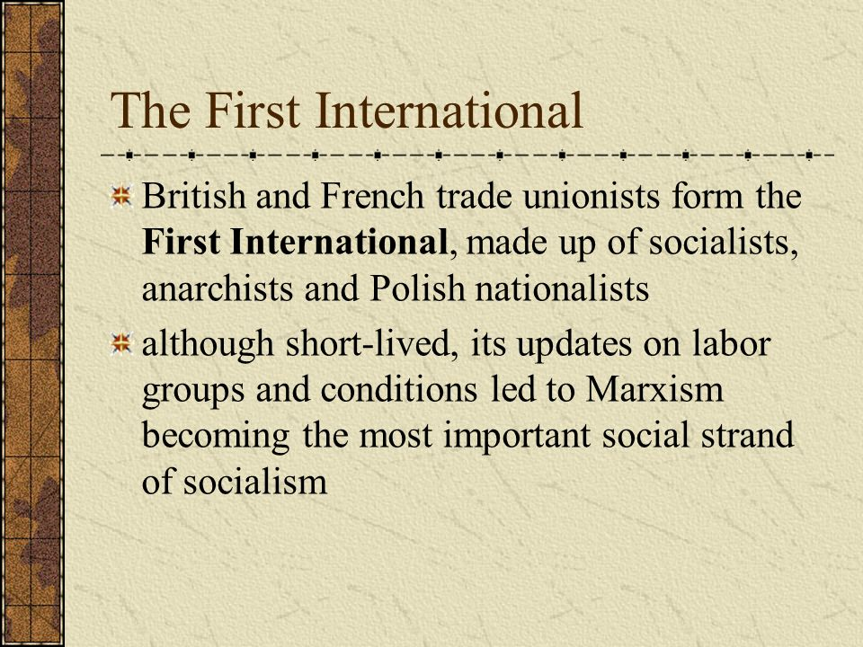 The First International