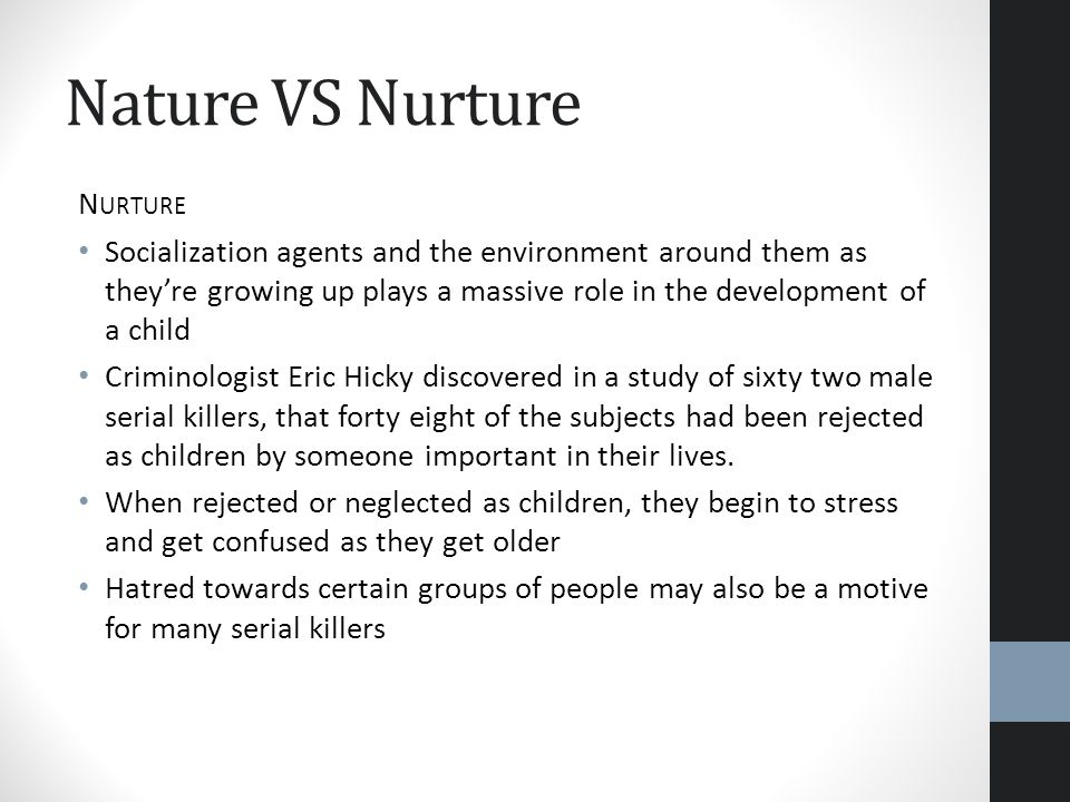 nature vs nurture serial killers research