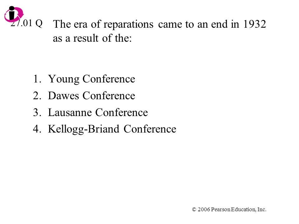 The era of reparations came to an end in 1932 as a result of the: