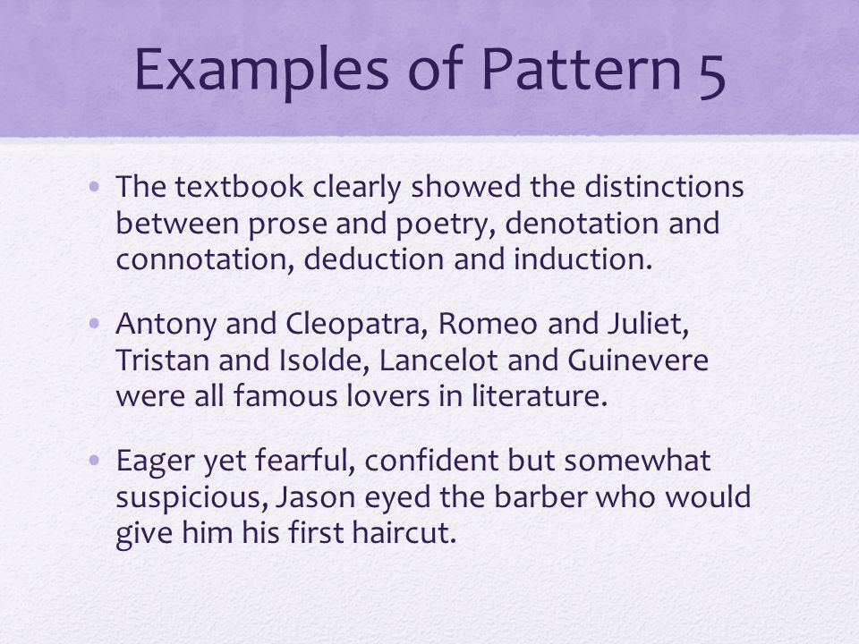 Basic sentence patterns | object (grammar) | verb.
