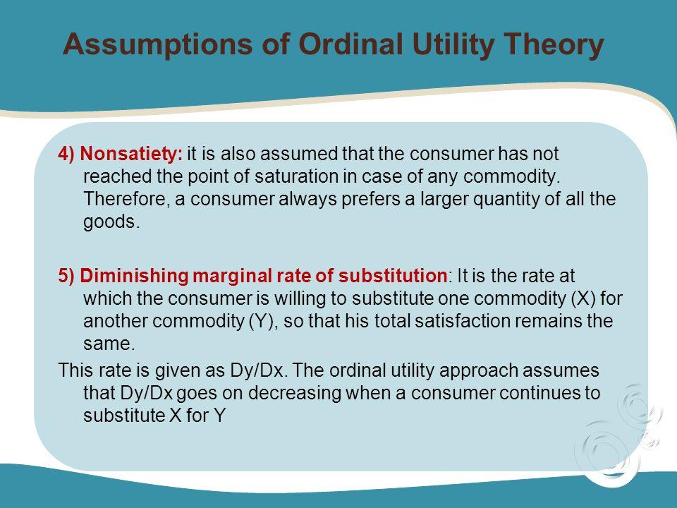 ordinal approach