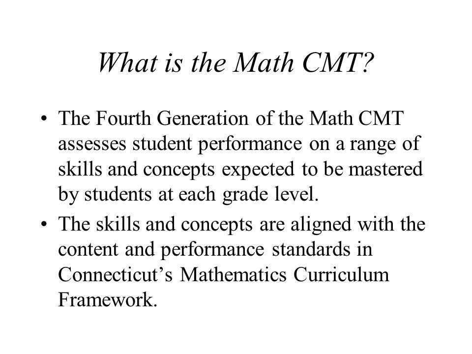 What is the Math CMT