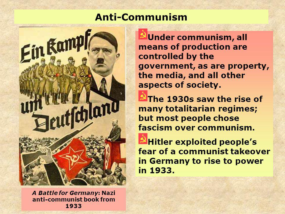A Battle for Germany: Nazi anti-communist book from 1933