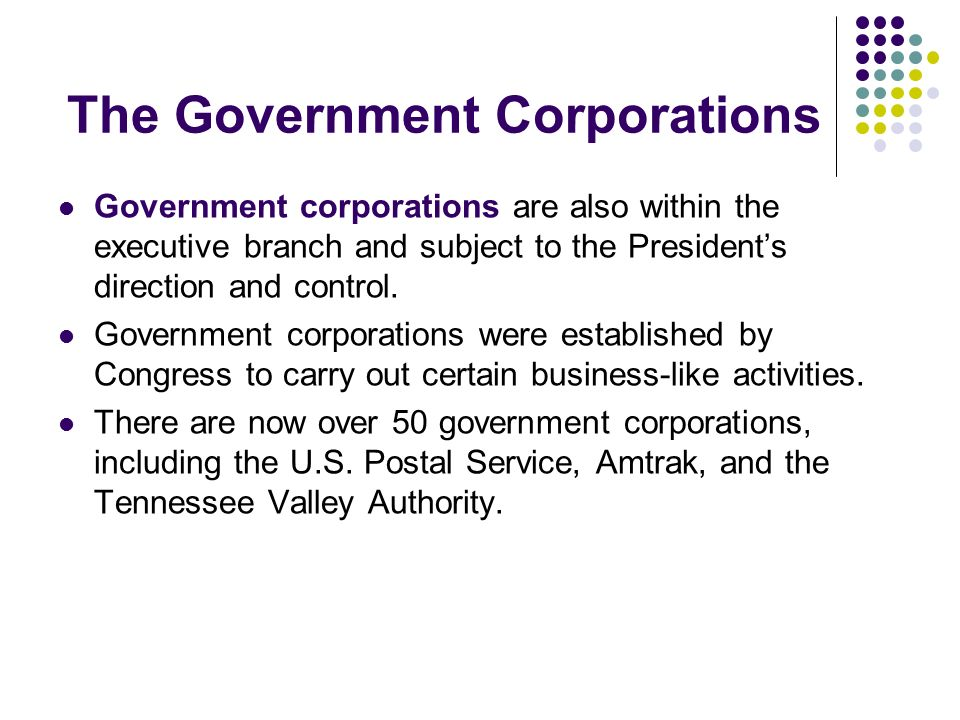 The Government Corporations