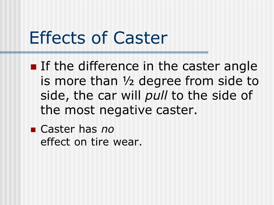 Effects of Caster