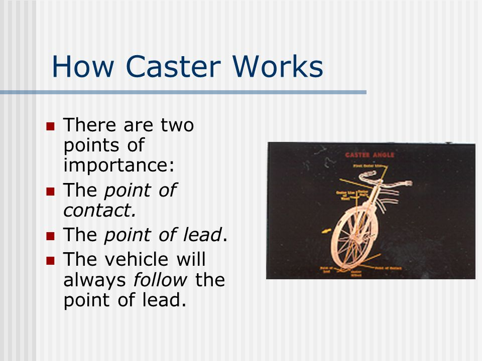 How Caster Works There are two points of importance: