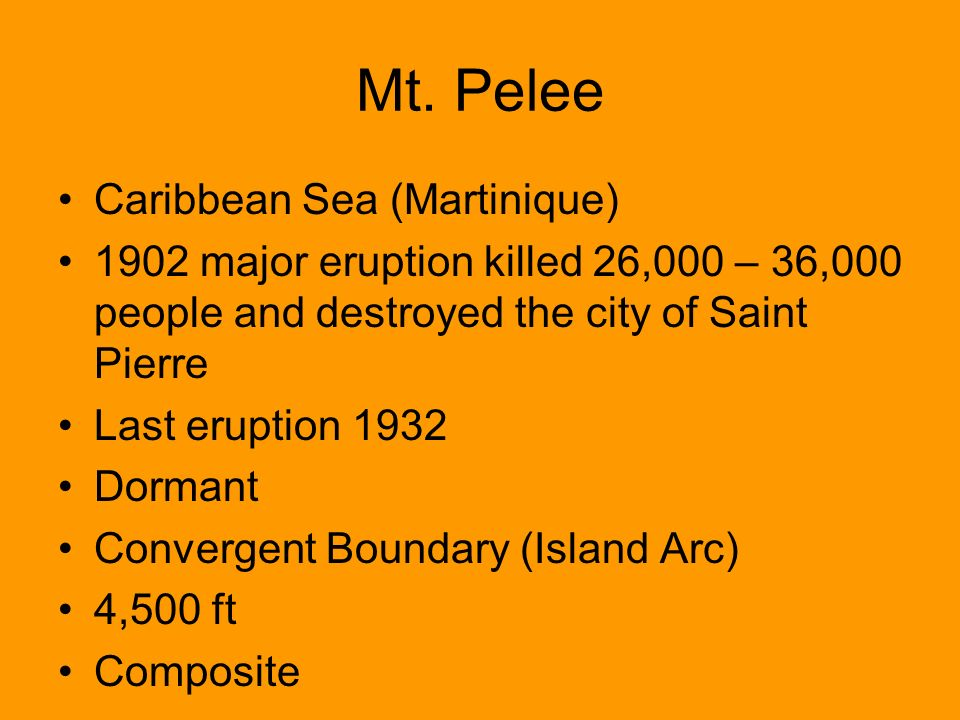 ________ destroyed the city of st pierre martinique in 1902