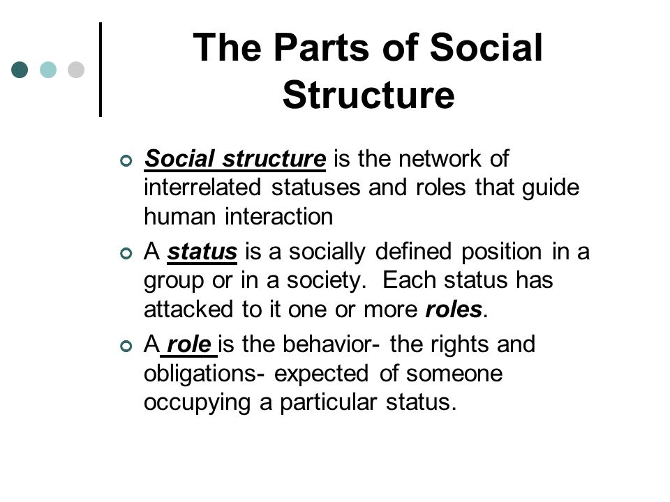 The Parts of Social Structure