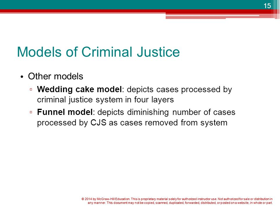 wedding cake model of justice criminal justice in america ppt 23269