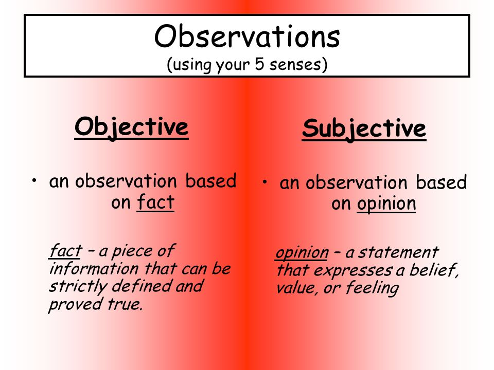 essay subjective objective Essay writing help: try to be objective nothing kills an essay more than it being too subjective even though essays are designed to be persuasive, therefore requiring an opinion, the essay itself needs to be highly objective with facts that support the opinion.