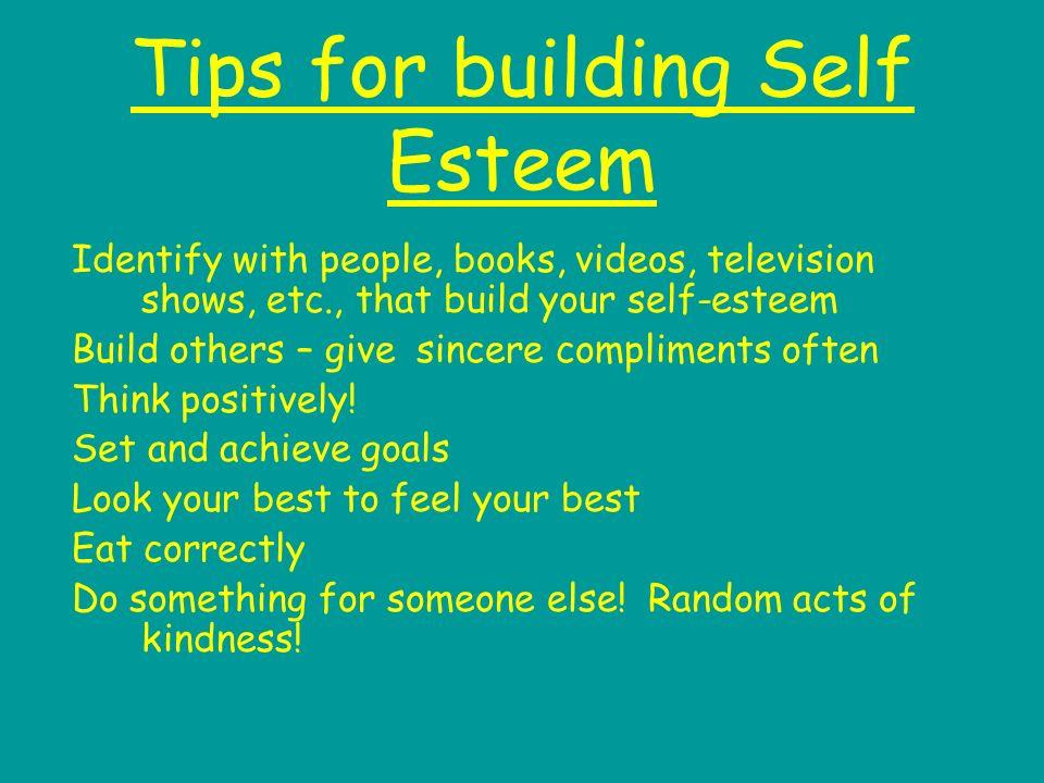 how can i build self esteem