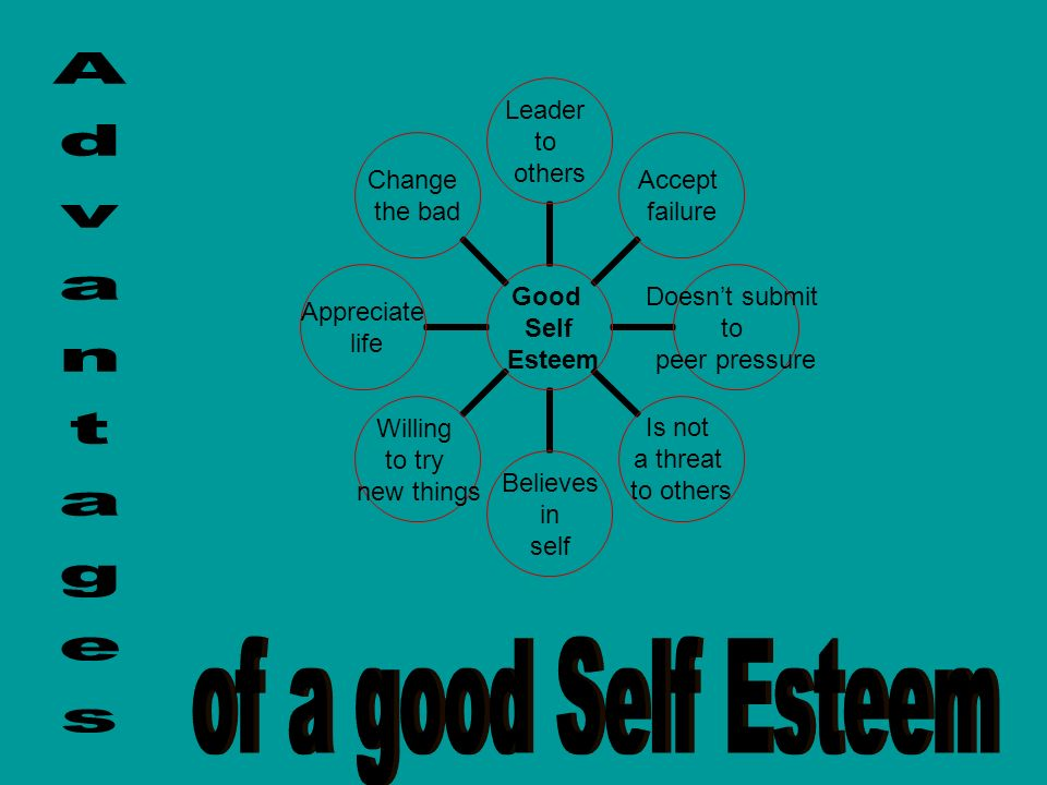 Advantages of a good Self Esteem