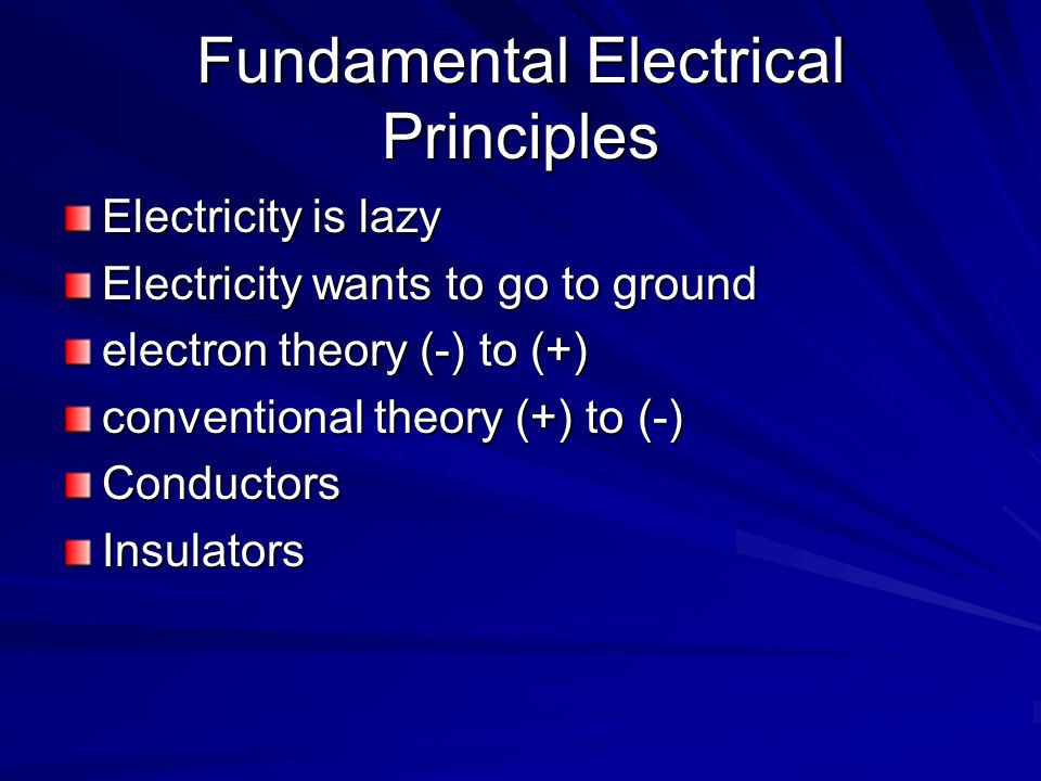 Fundamental Electrical Principles