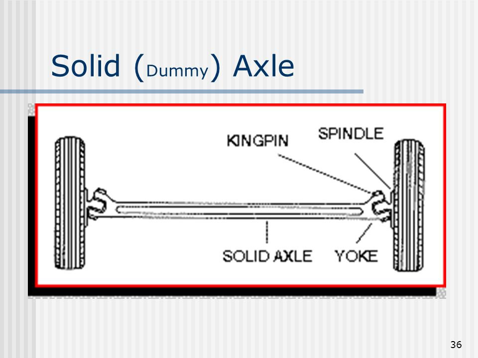Solid (Dummy) Axle