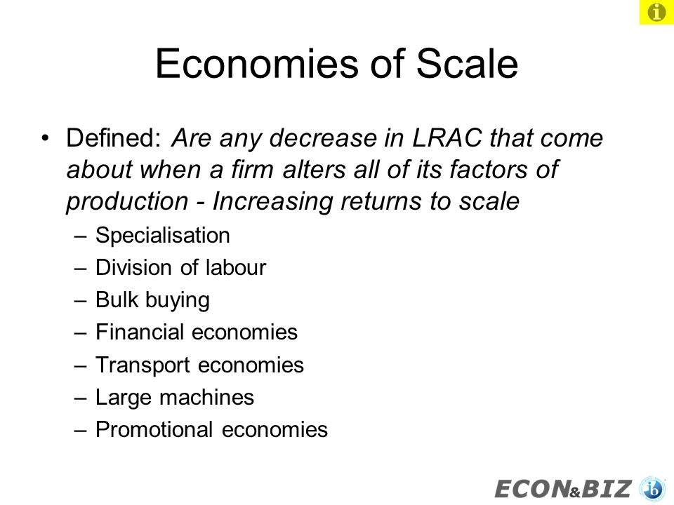 increasing returns to scale definition