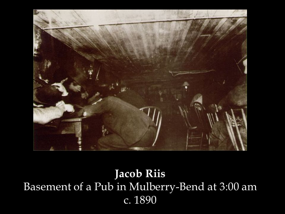 Jacob Riis Basement of a Pub in Mulberry-Bend at 3:00 am c. 1890