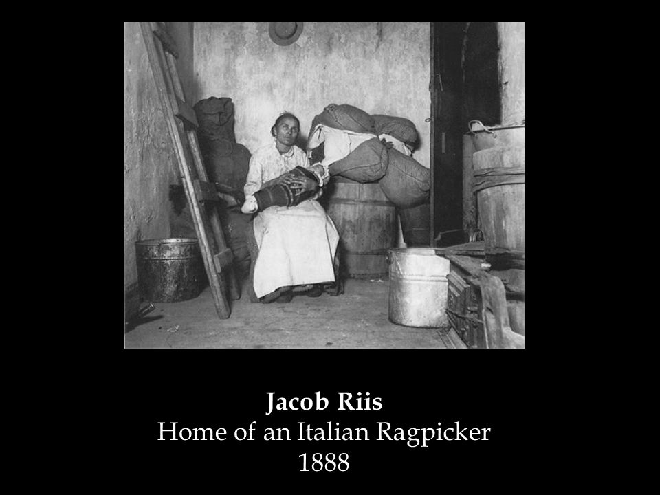 Jacob Riis Home of an Italian Ragpicker 1888