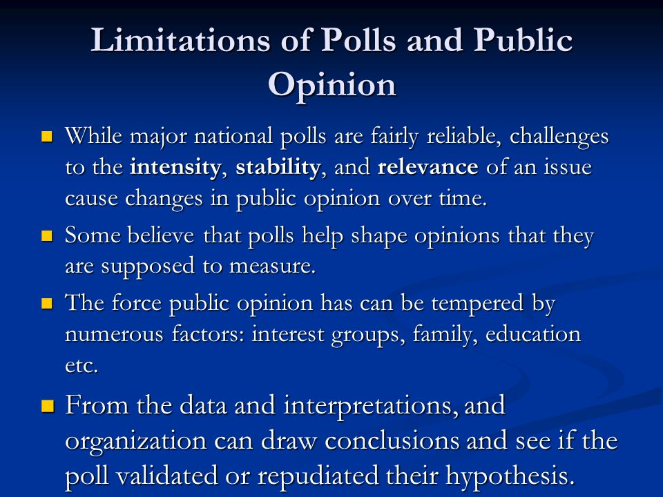 Limitations of Polls and Public Opinion