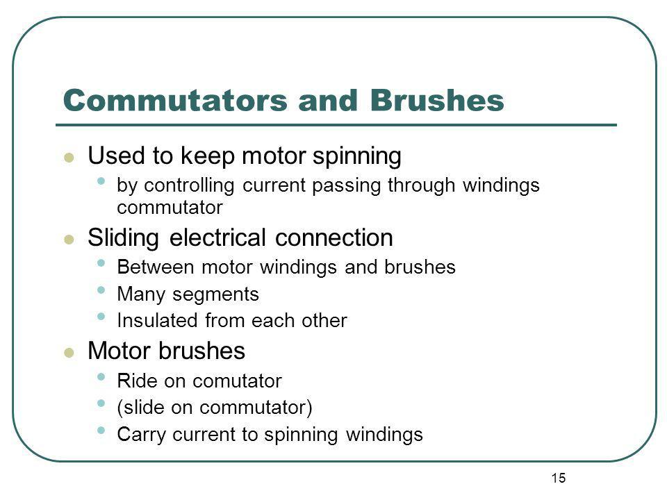 Commutators and Brushes