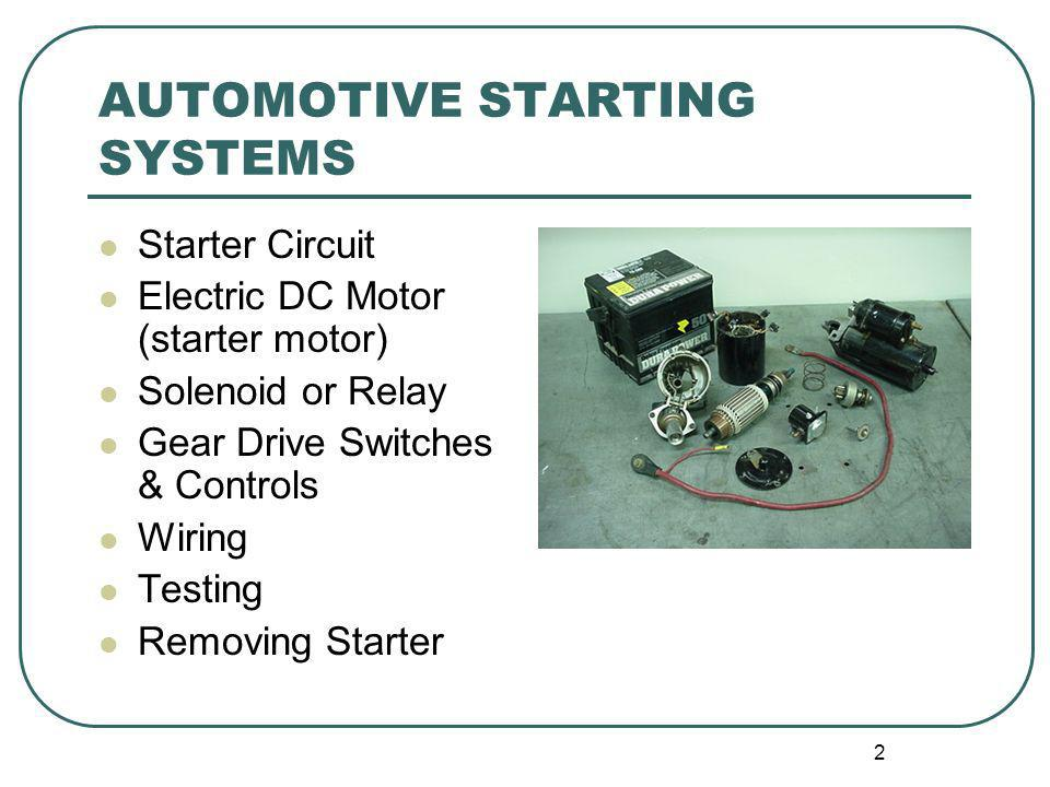 AUTOMOTIVE STARTING SYSTEMS