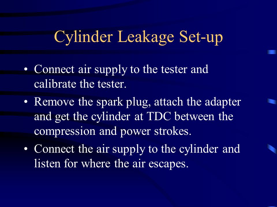 Cylinder Leakage Set-up