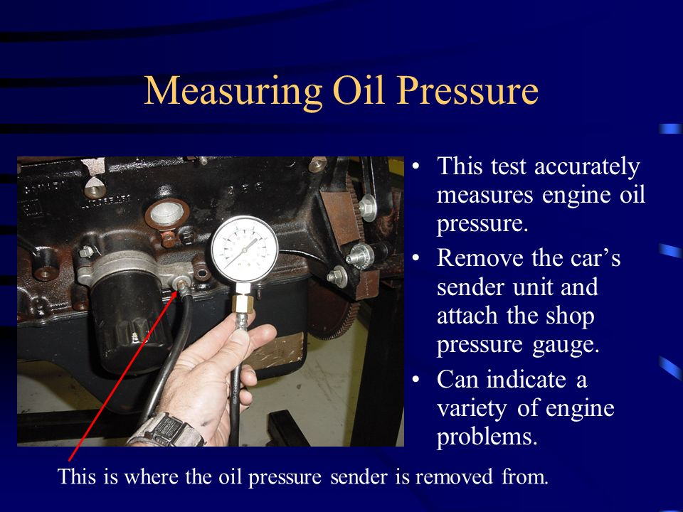 Measuring Oil Pressure