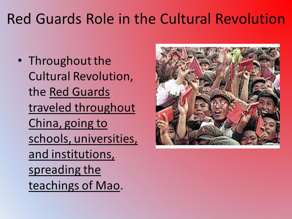 Red Guards Role in the Cultural Revolution