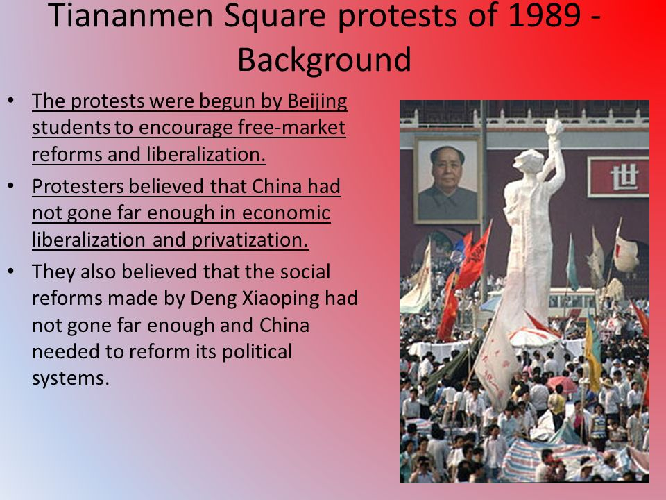Tiananmen Square protests of 1989 - Background