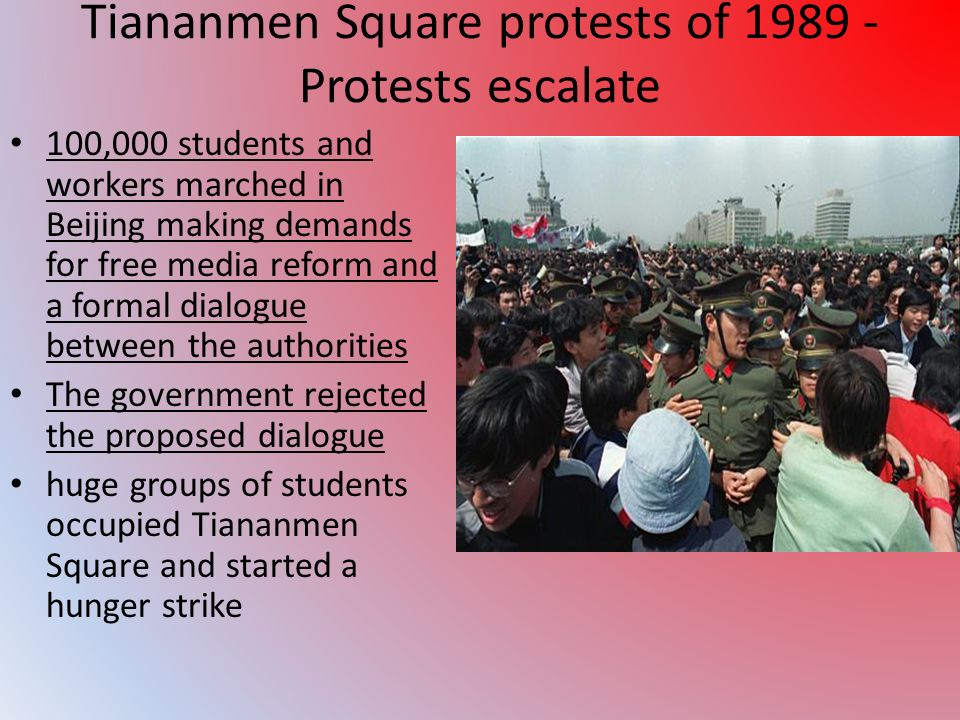 Tiananmen Square protests of 1989 - Protests escalate