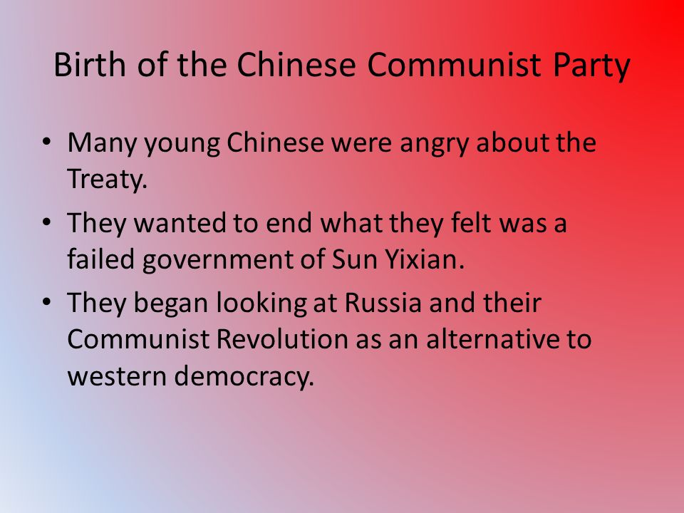 Birth of the Chinese Communist Party