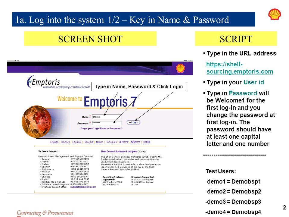 E-TENDER USER GUIDE FOR VENDORS EMPTORIS 7 - ppt video