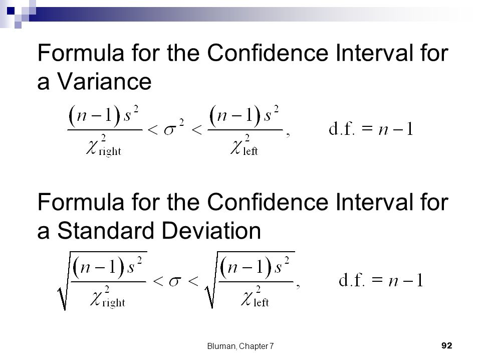 92 Formula For The Confidence Interval