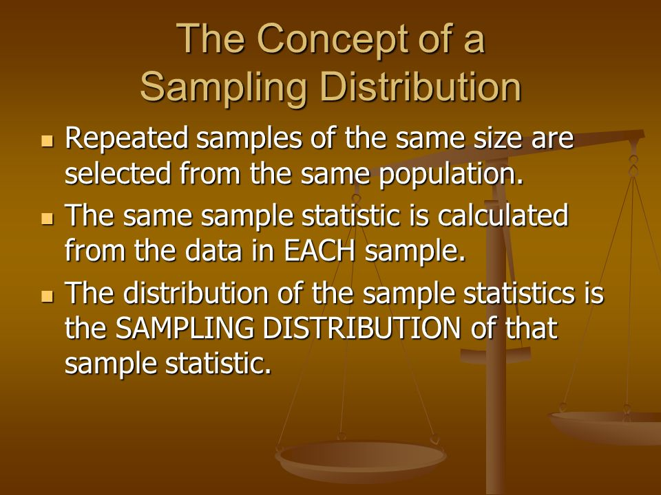 The Concept of a Sampling Distribution