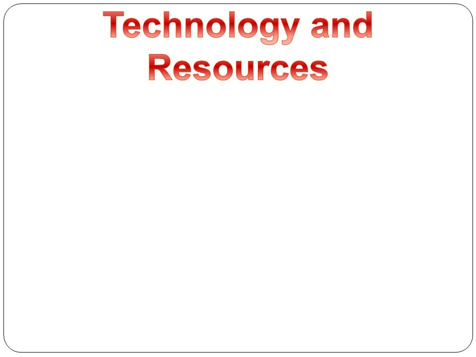 Technology and Resources