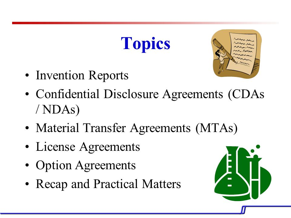 Intellectual Property Technology Transfer Agreements A Glimpse