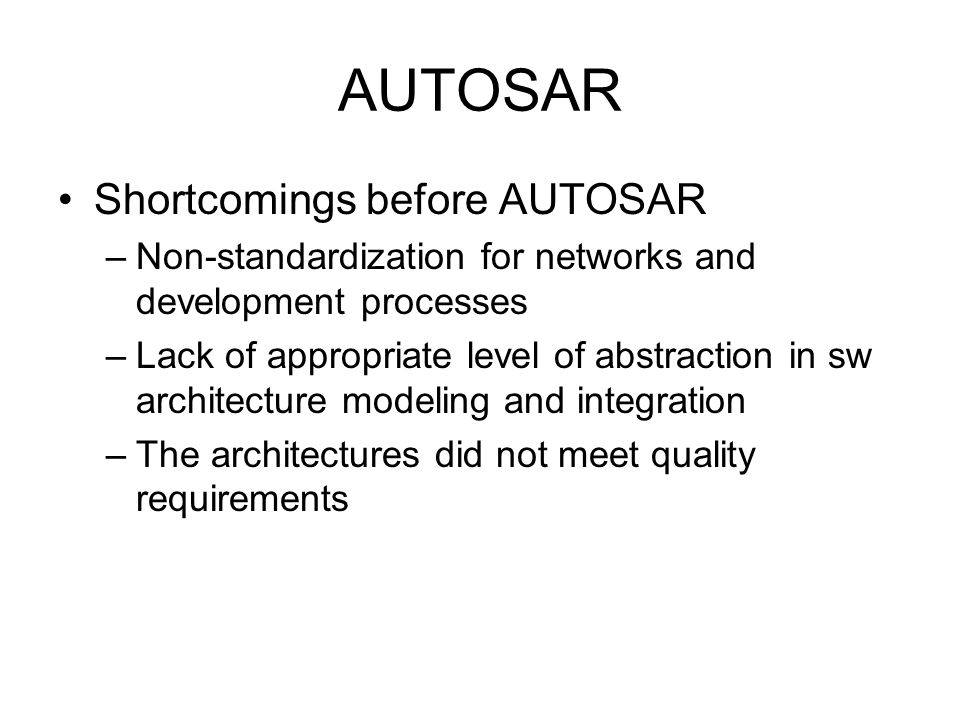 RTS Meeting 8th July 2009 Introduction Middleware AUTOSAR