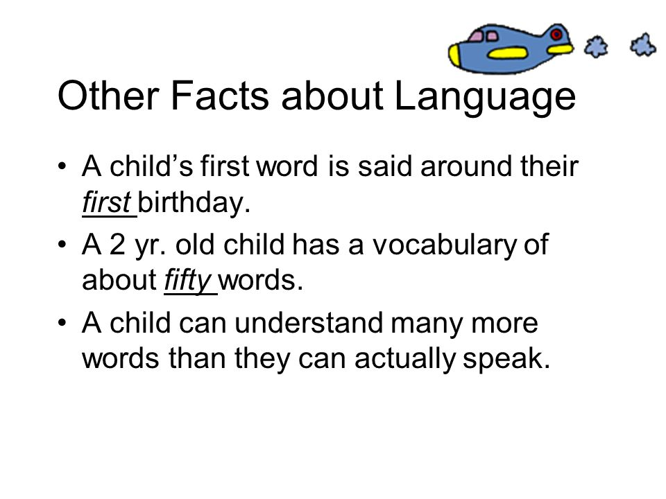 Other Facts about Language